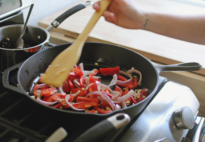 Fajita style veggies