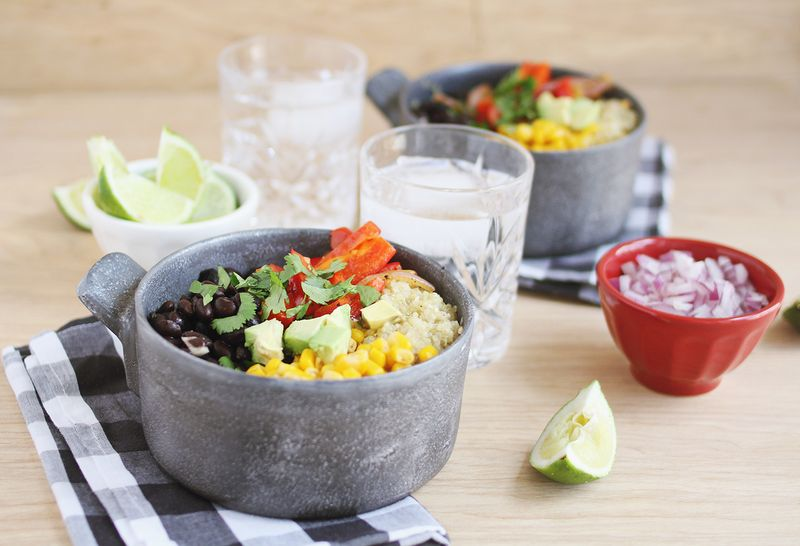 In another small pot or pan, heat the black beans with the cumin and ...