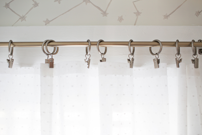 Easy No Sew Curtains abeautifulmess.com