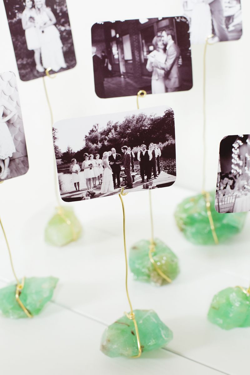 Photo crystal display from A Beautiful Mess