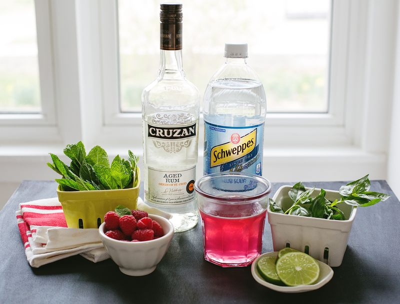 Raspberry Basil Mojito (click through for the recipe. so refreshing!!)