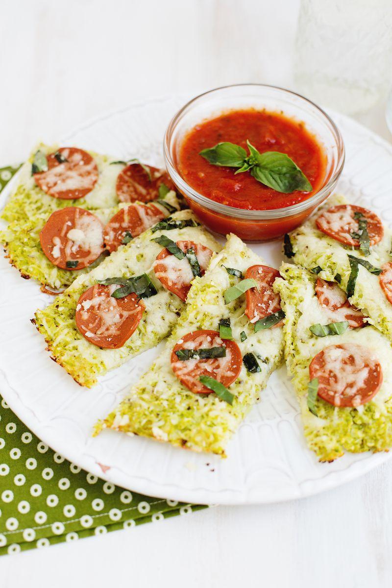 Cauliflower crust pizza (click through for recipe)