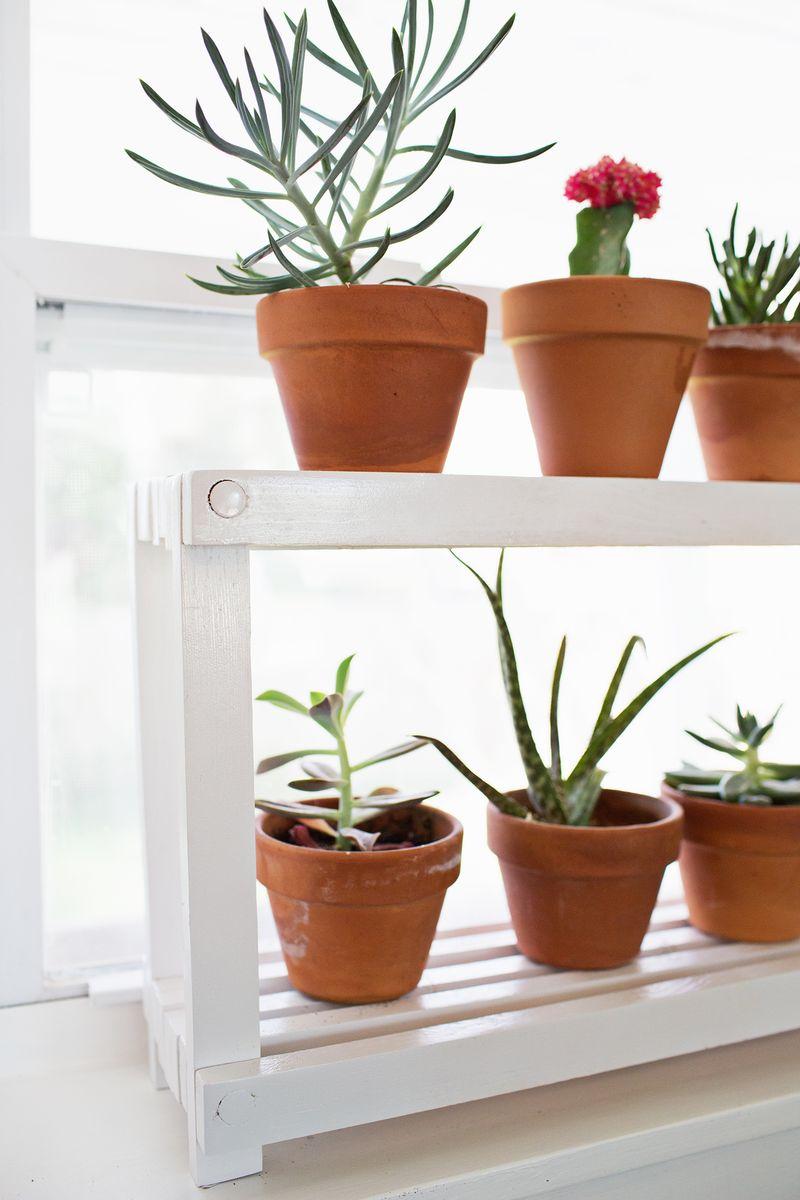 window ledge plant shelf a beautiful mess. Black Bedroom Furniture Sets. Home Design Ideas
