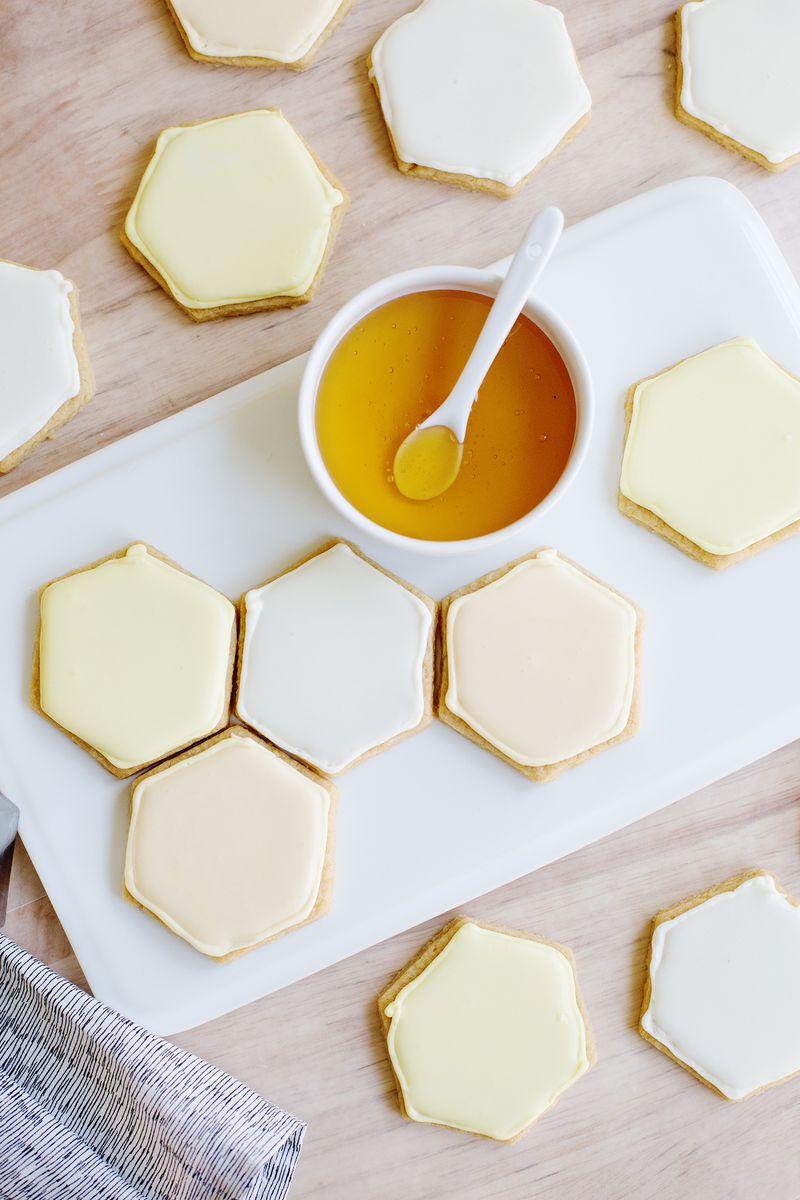 Honeycomb Sugar Cookies A Beautiful Mess