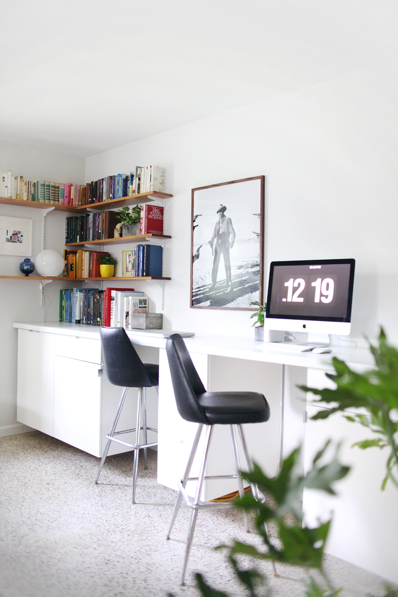 Make A Long Built In Style Desk By Hanging Cabinets And Creating Your Own