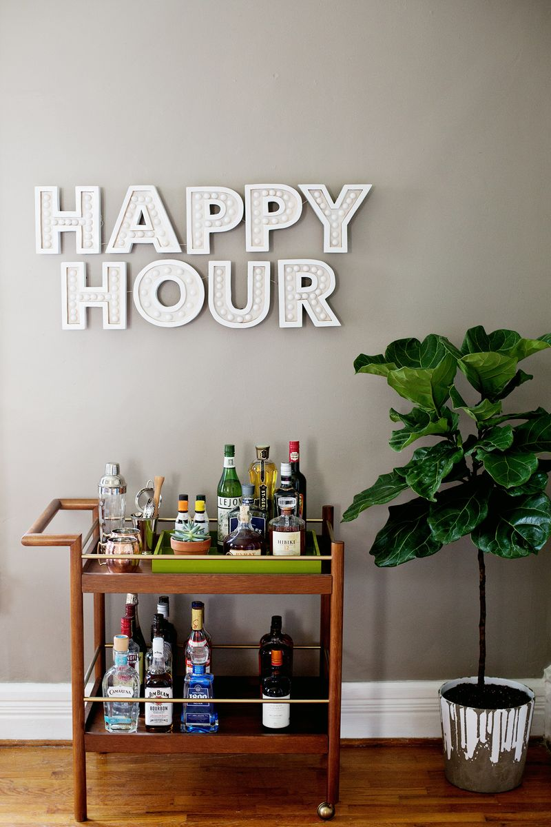 Happy Hour Marquee - A Beautiful Mess