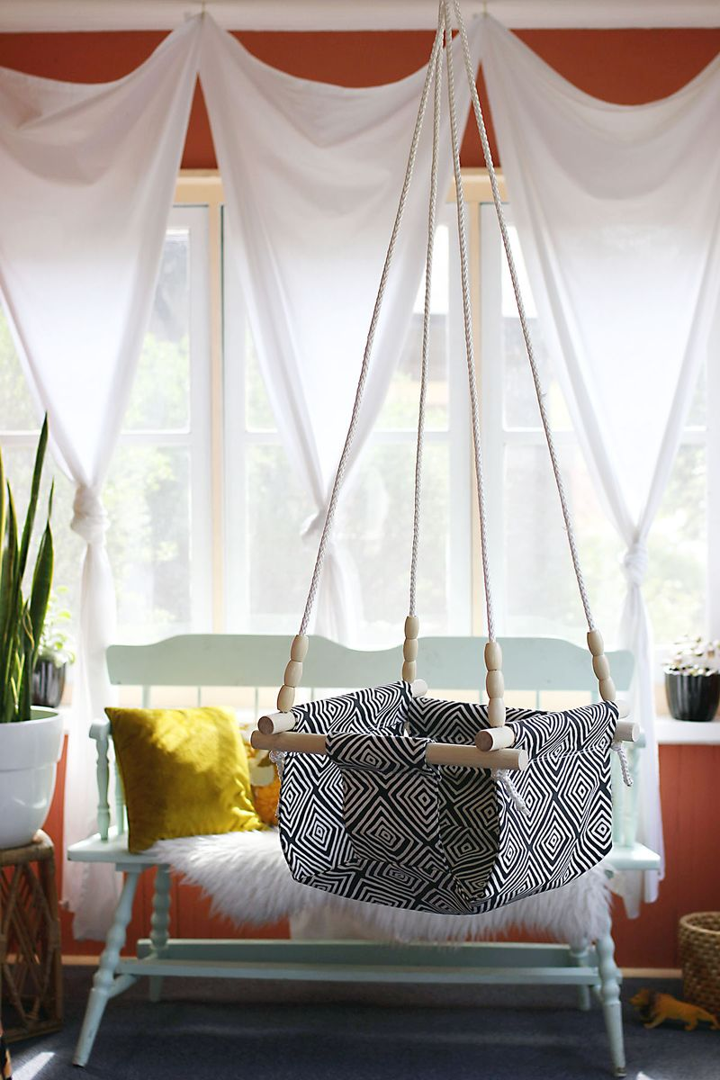 Baby and toddler swing diy a beautiful mess bloglovin for Diy canvas hammock