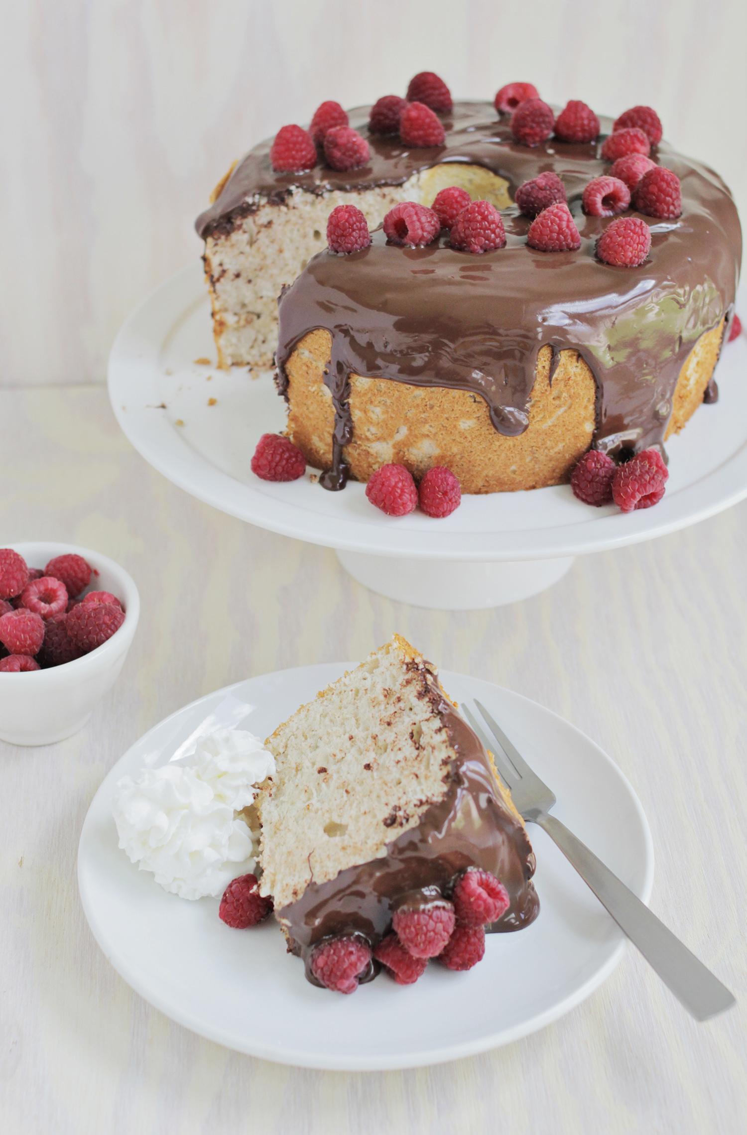 Mocha angel food cake (click through for recipe)