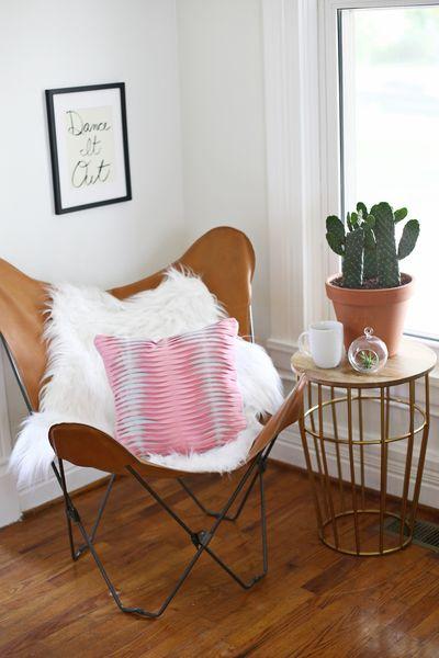 Textured Leather Pillow DIY