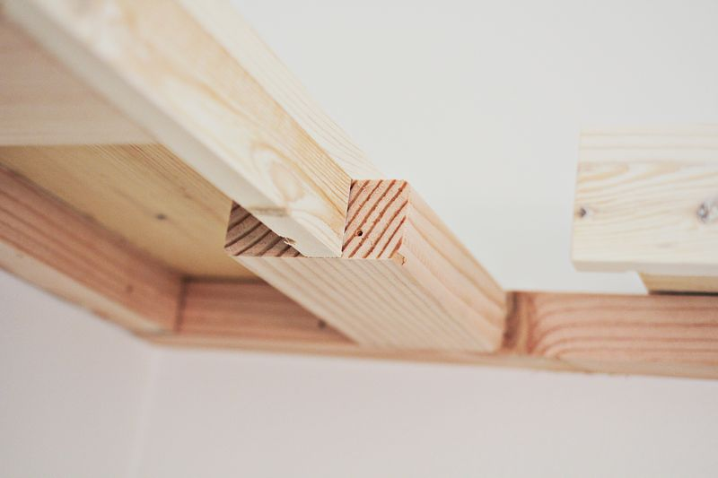 DIY floating shelves (progress _ click through for more)