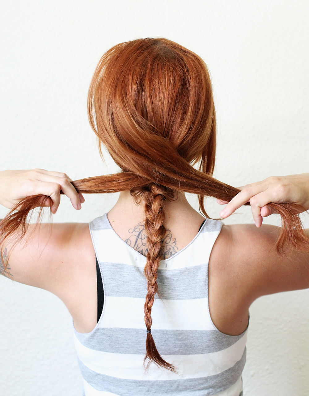Step 2- Textured Summer Braid DIY