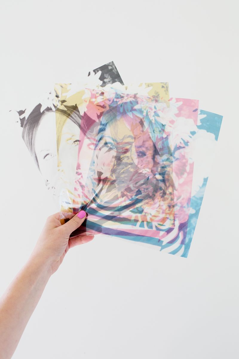 CMYK Photo Dissection Display on A Beautiful Mess