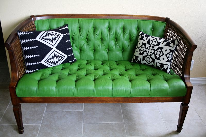 How To Paint Upholstery With Latex Paint And Fabric Medium ...