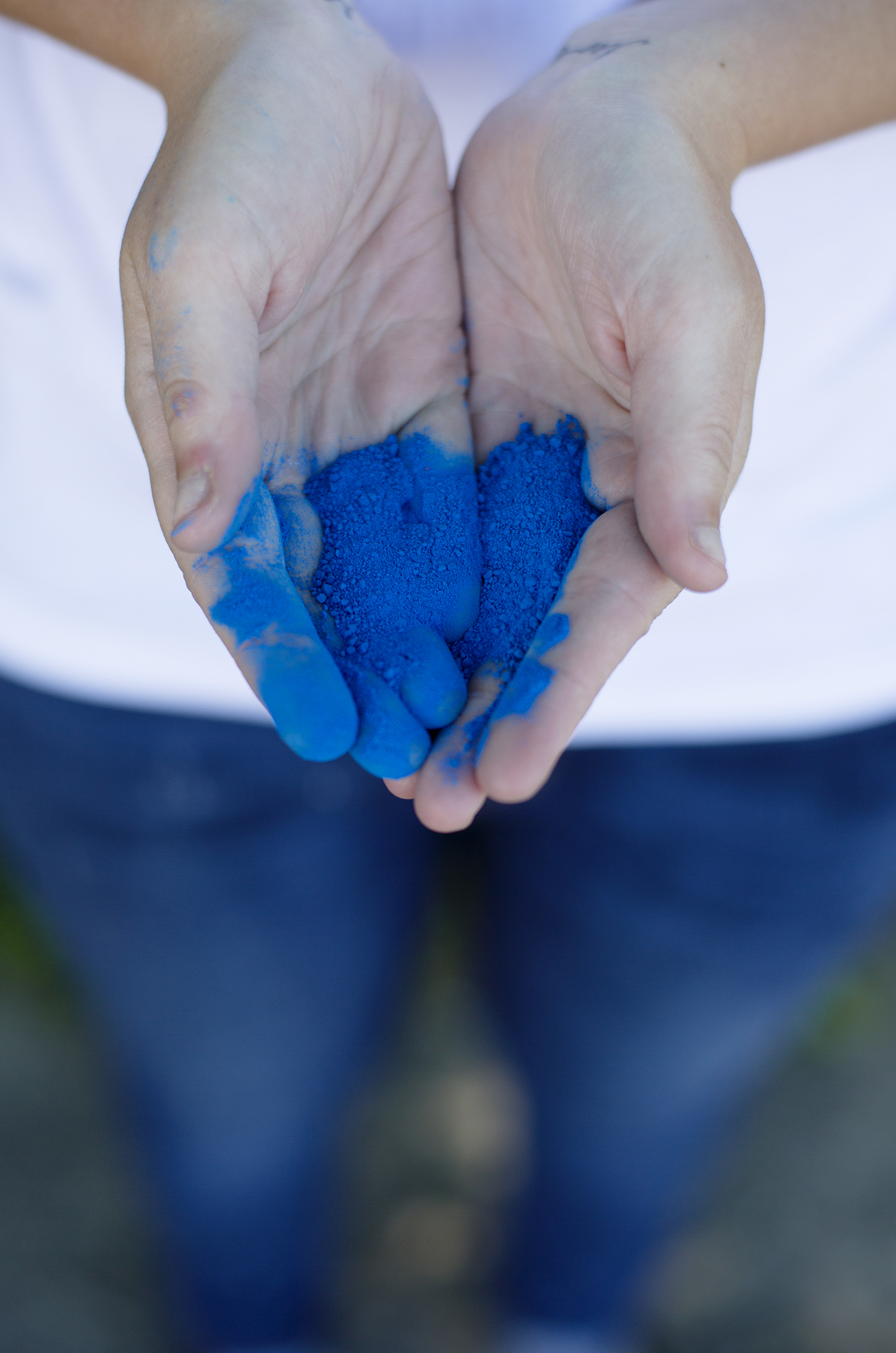DIY colored powder