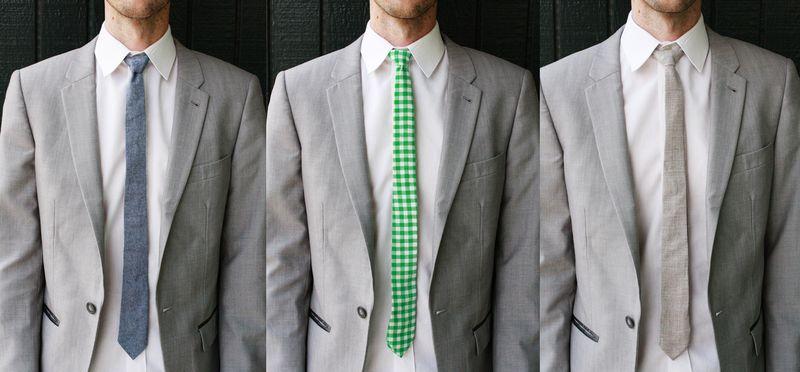 Men's skinny tie DIY