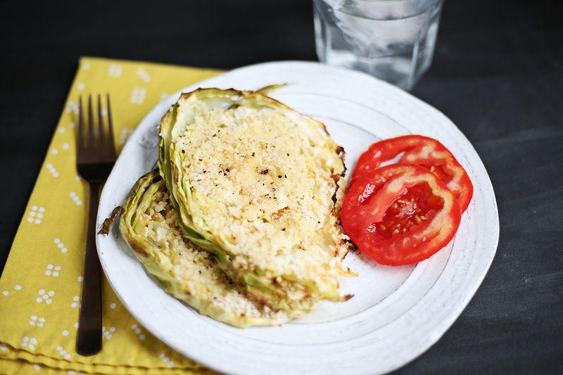 Honey Mustard Roasted Cabbage