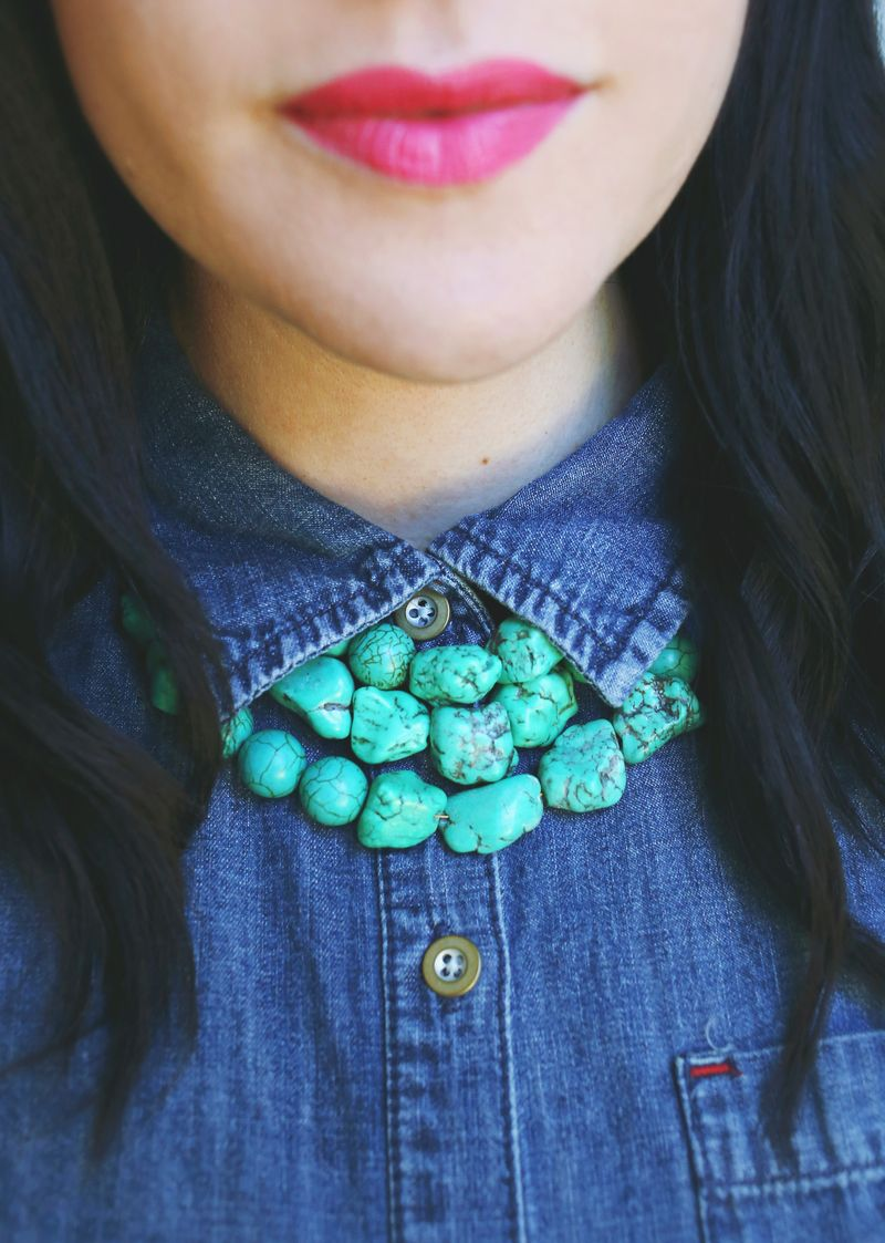 How to Make a Simple Beaded Necklace – A Beautiful Mess