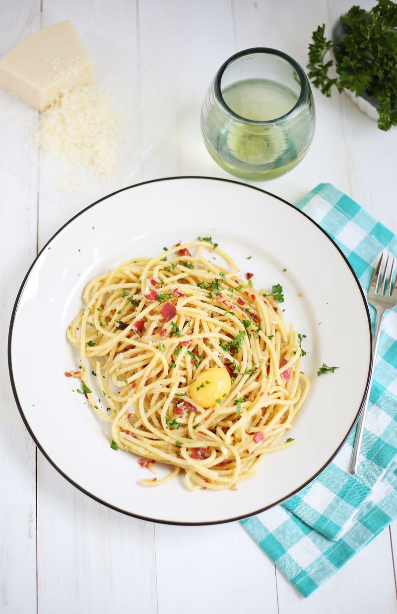 Bucatini Carbonara (click through for recipe)
