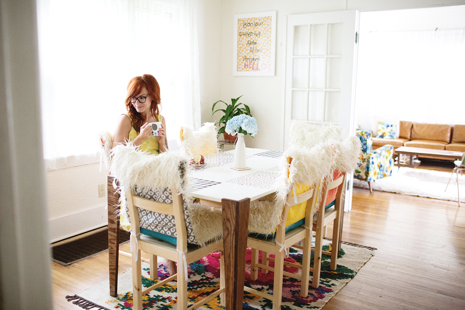 Faux fur chair covers (click through for tutorial)