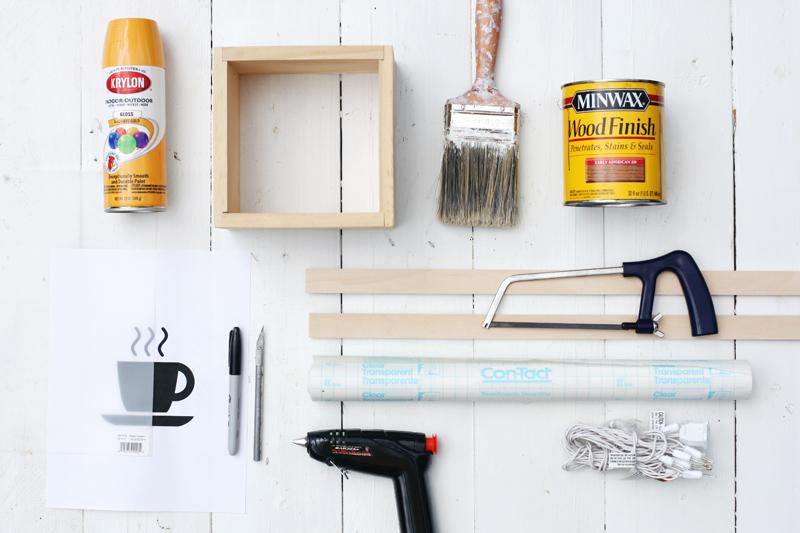 diy light up caf sign a beautiful mess. Black Bedroom Furniture Sets. Home Design Ideas