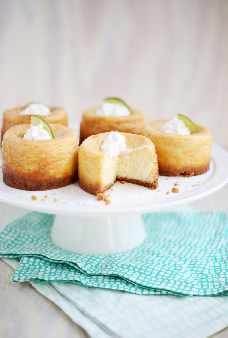Lime scented cheesecake (click through for recipe)
