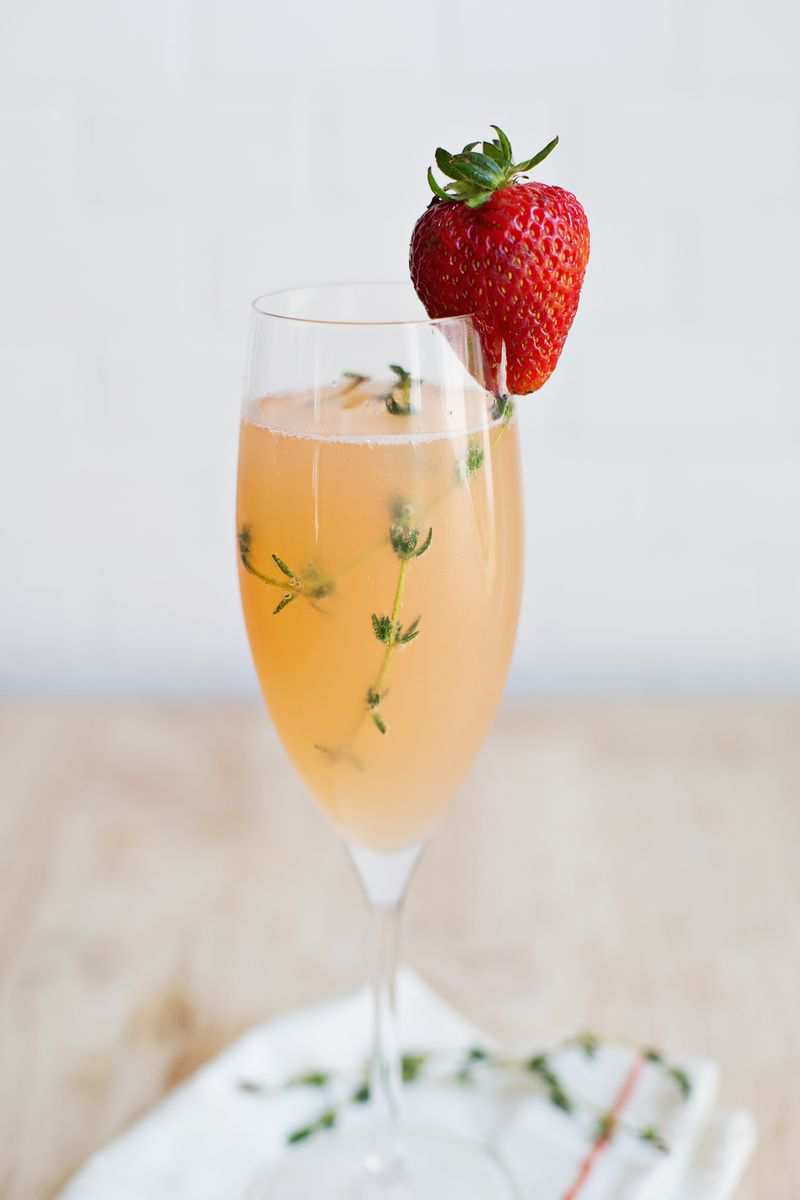 Strawberry Grapefruit Mimosa