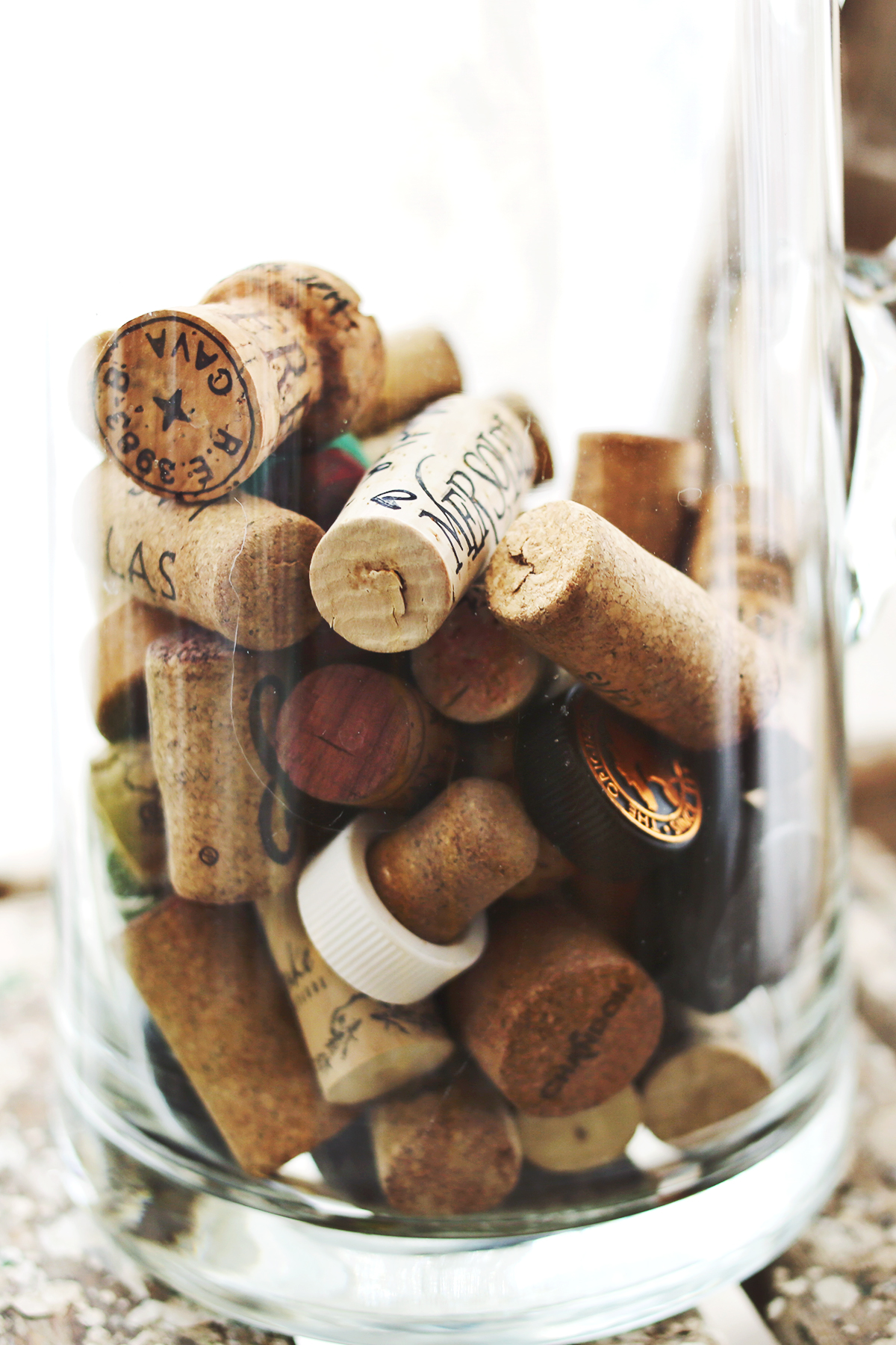 Little Traditions- Save wine and champagne corks and write what you were celebrating or doing on each cork!