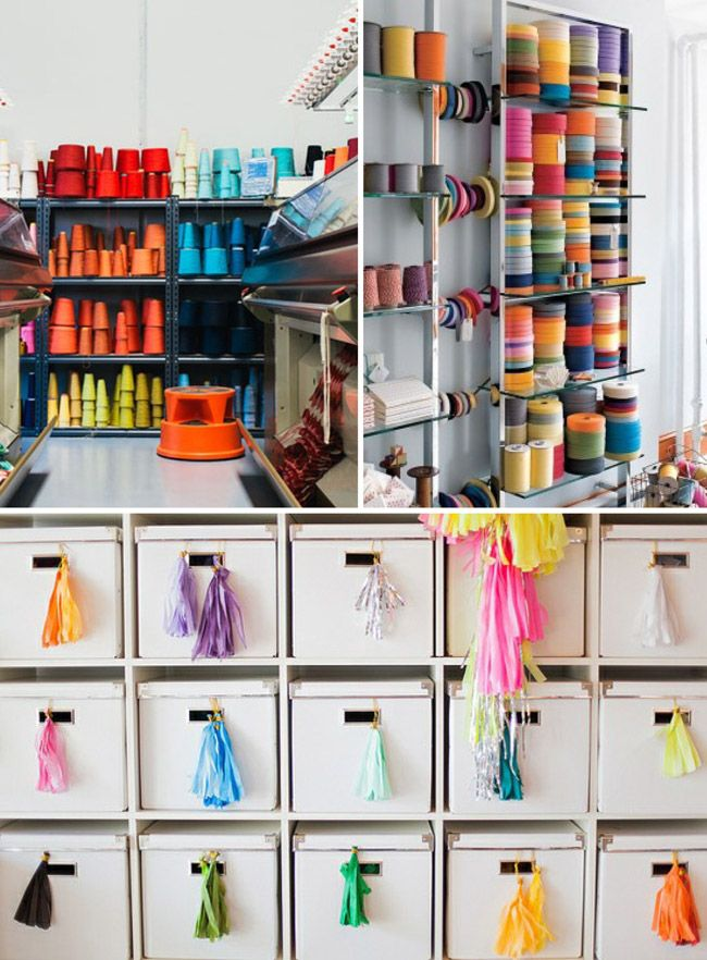 organized studio inspiration via i art u