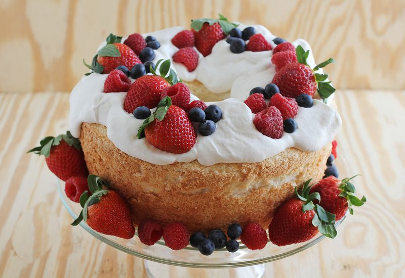 Emmas Birthday Cake Angel Food A Beautiful Mess