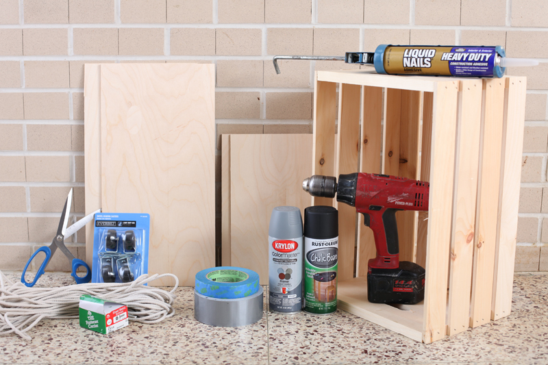 Make Your Own Rolling Chalkboard Toy Box Using A Crate As A Base. Click  Through