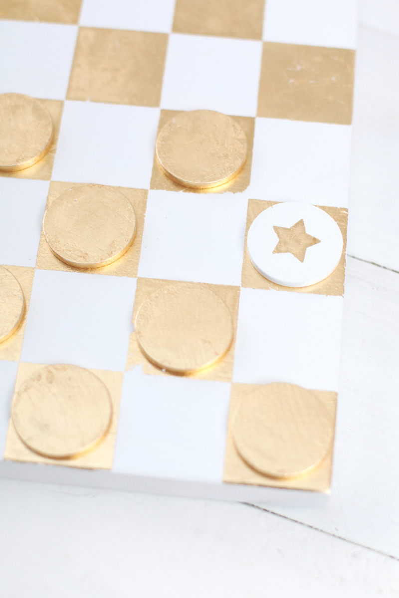 Make a Gold Leaf Checkerboard for display & for play!