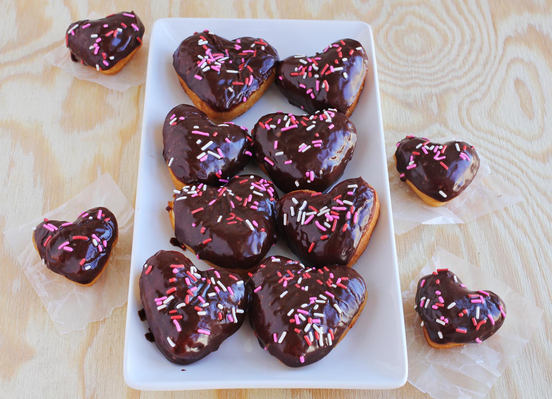 Chocolate + wine donuts