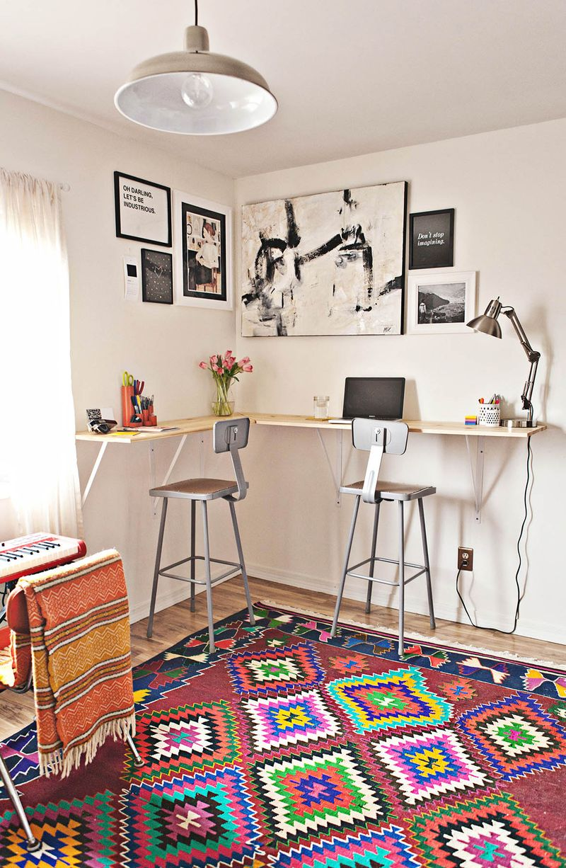 Diy Standing Desk As Trey And I Were Planning How We Wanted To Makeover Our  Home Office ...