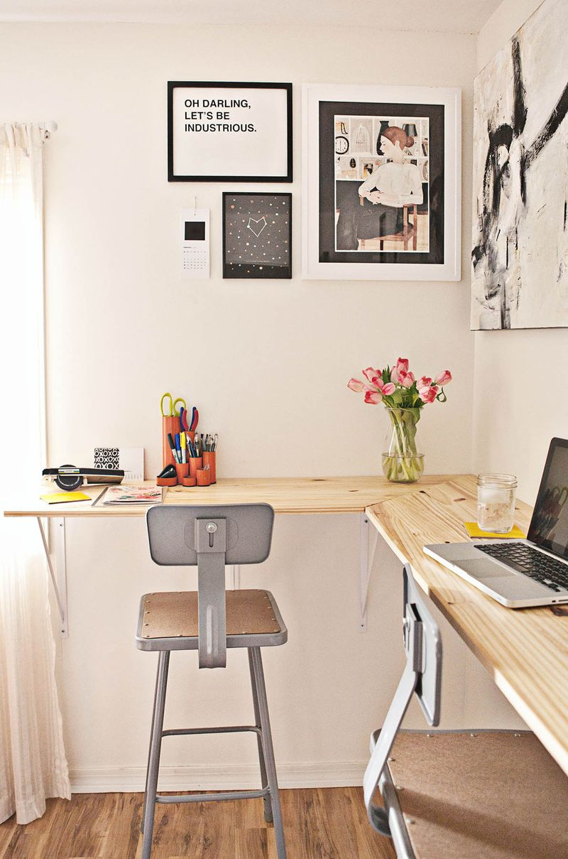 wall mounted office desk.  mounted diy standing desk and wall mounted office desk 3