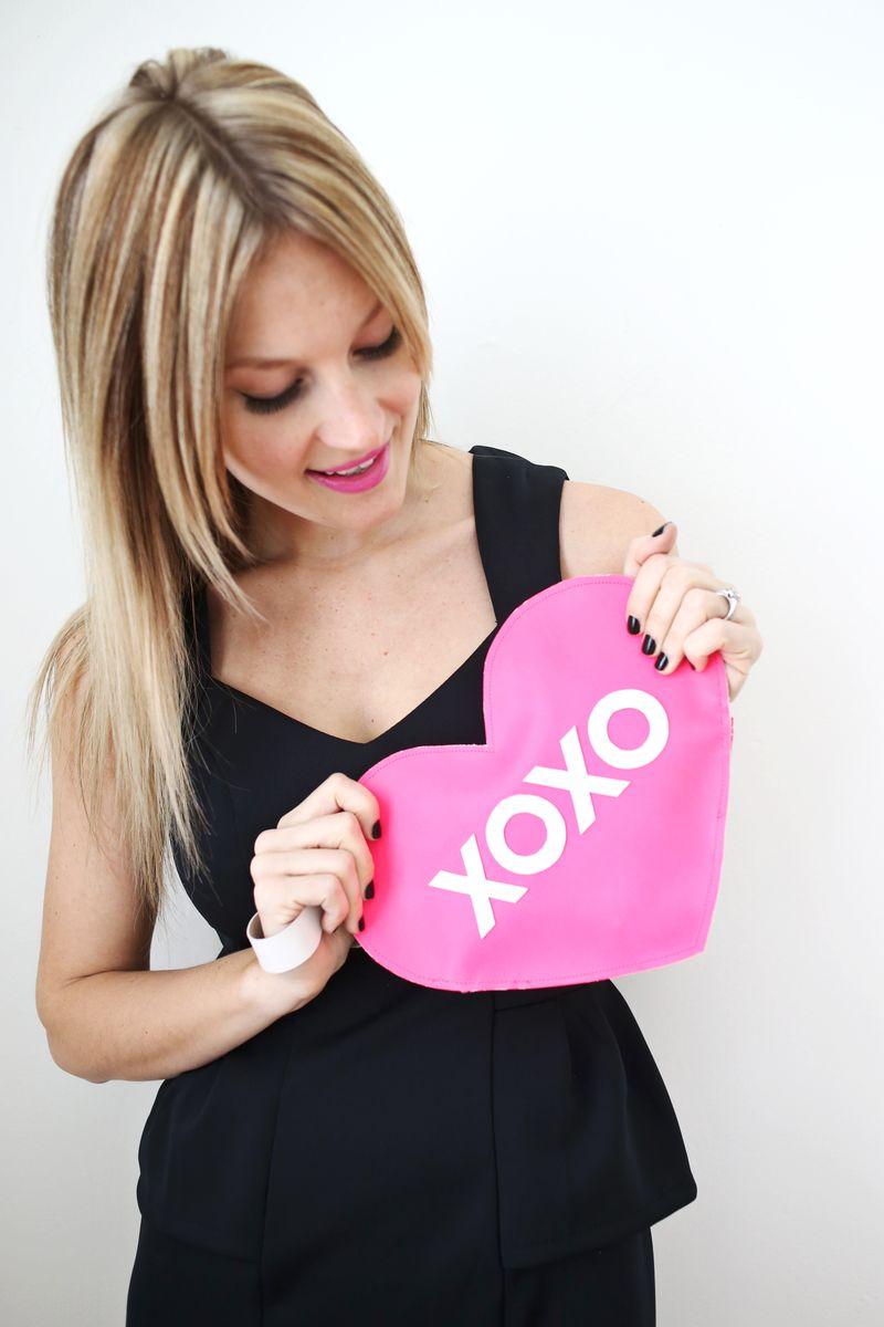 XOXO Heart Clutch DIY abeautifulmess.com