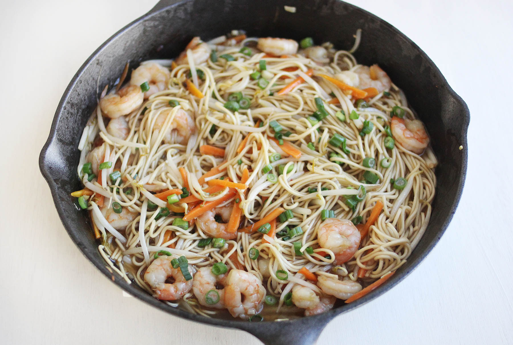 How to make shrimp lo mein