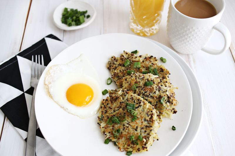 Quinoa Breakfast Hash Browns abeautifulmess.com