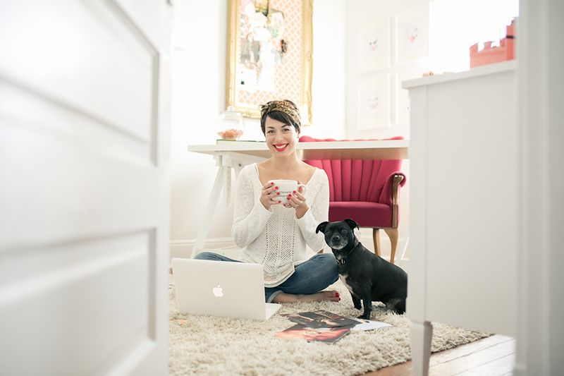 At Home With Amanda Cowley via A Beautiful Mess