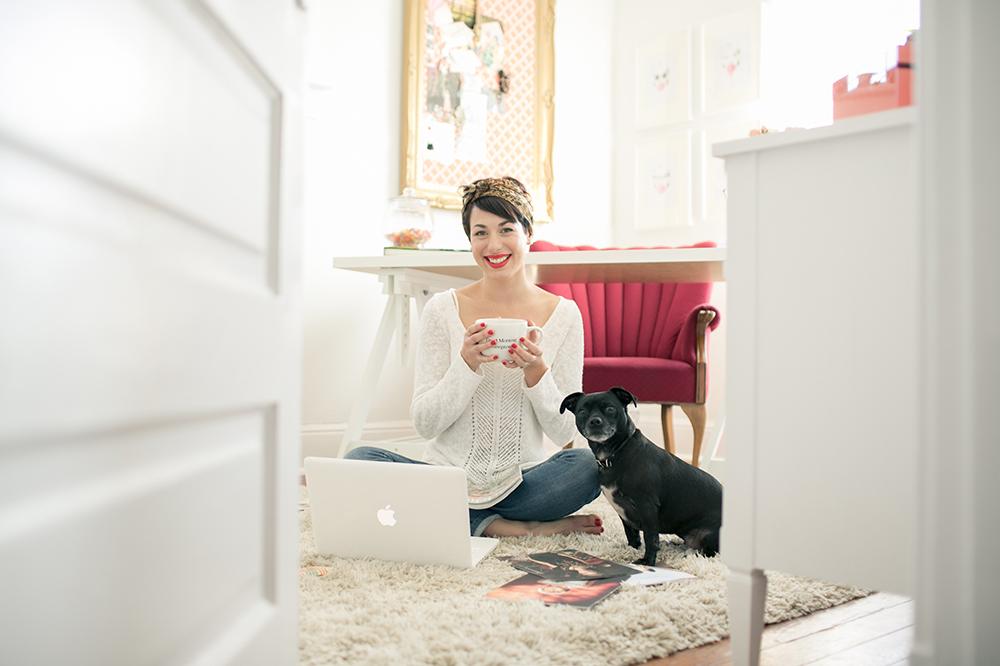 At Home With Amanda Cowley via A Beautiful Mess