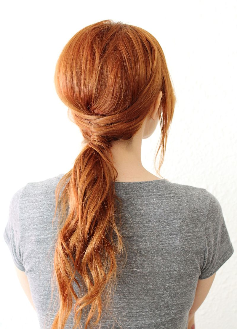 Crisscross Ponytail A Beautiful Mess - Hairstyle design pictures