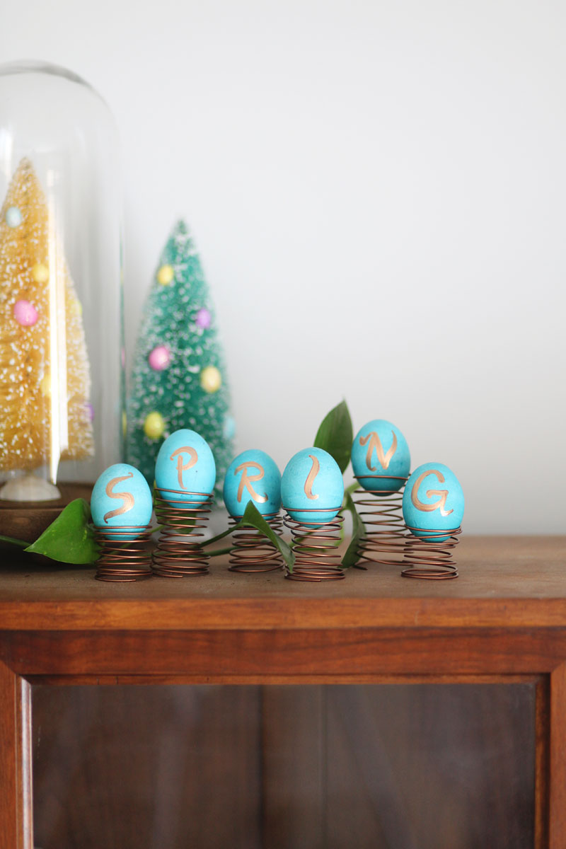 All it takes is some wire and paint to make this quirky Easter egg display!