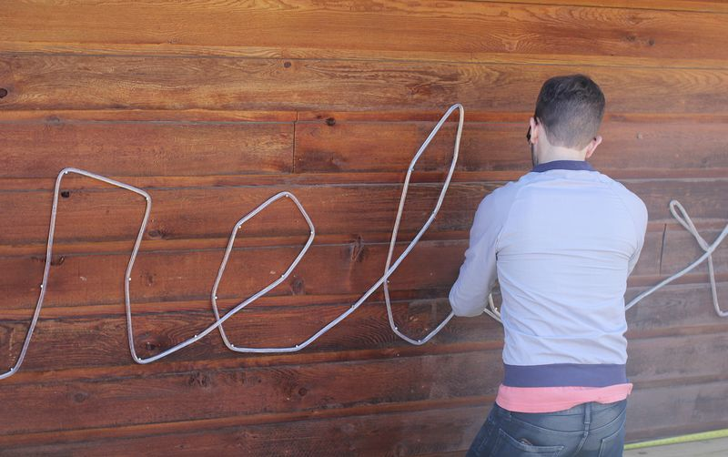 How to make a marquee with a rope light