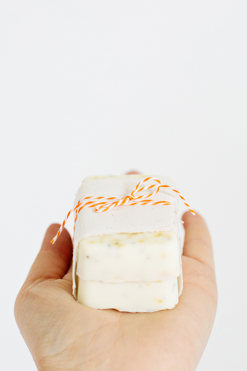 Great gift idea-- simple homemade soap on A Beautiful Mess