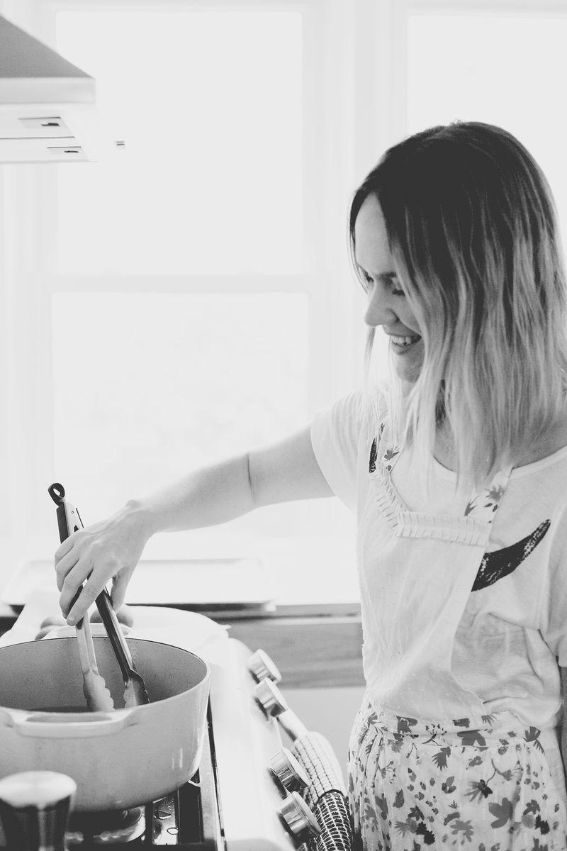 Emma Chapman making donuts