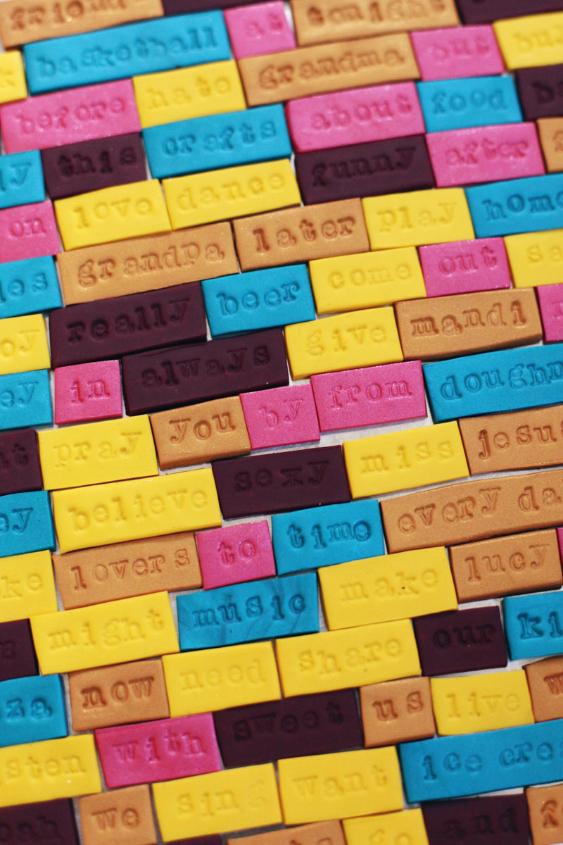 Make Your Own Clay Word Magnets A Beautiful Mess