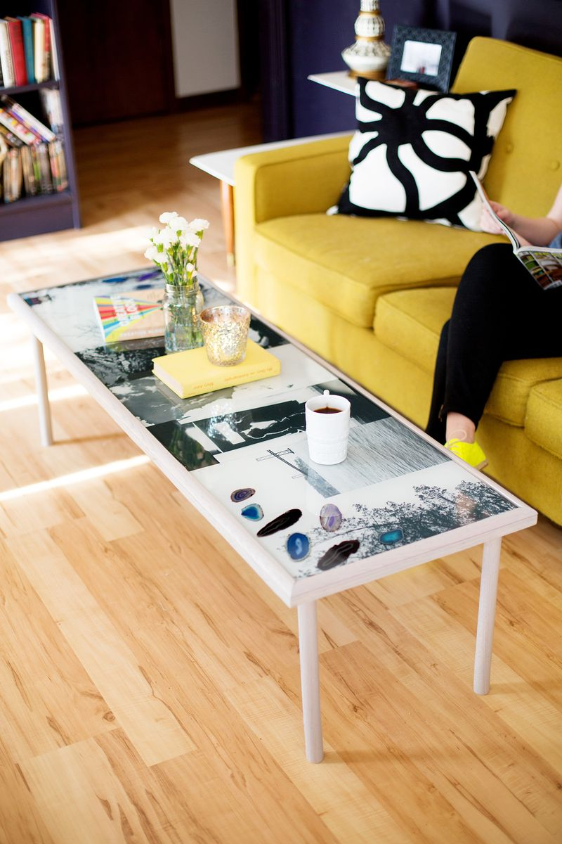Diy epoxy coffee table by A Beautiful Mess