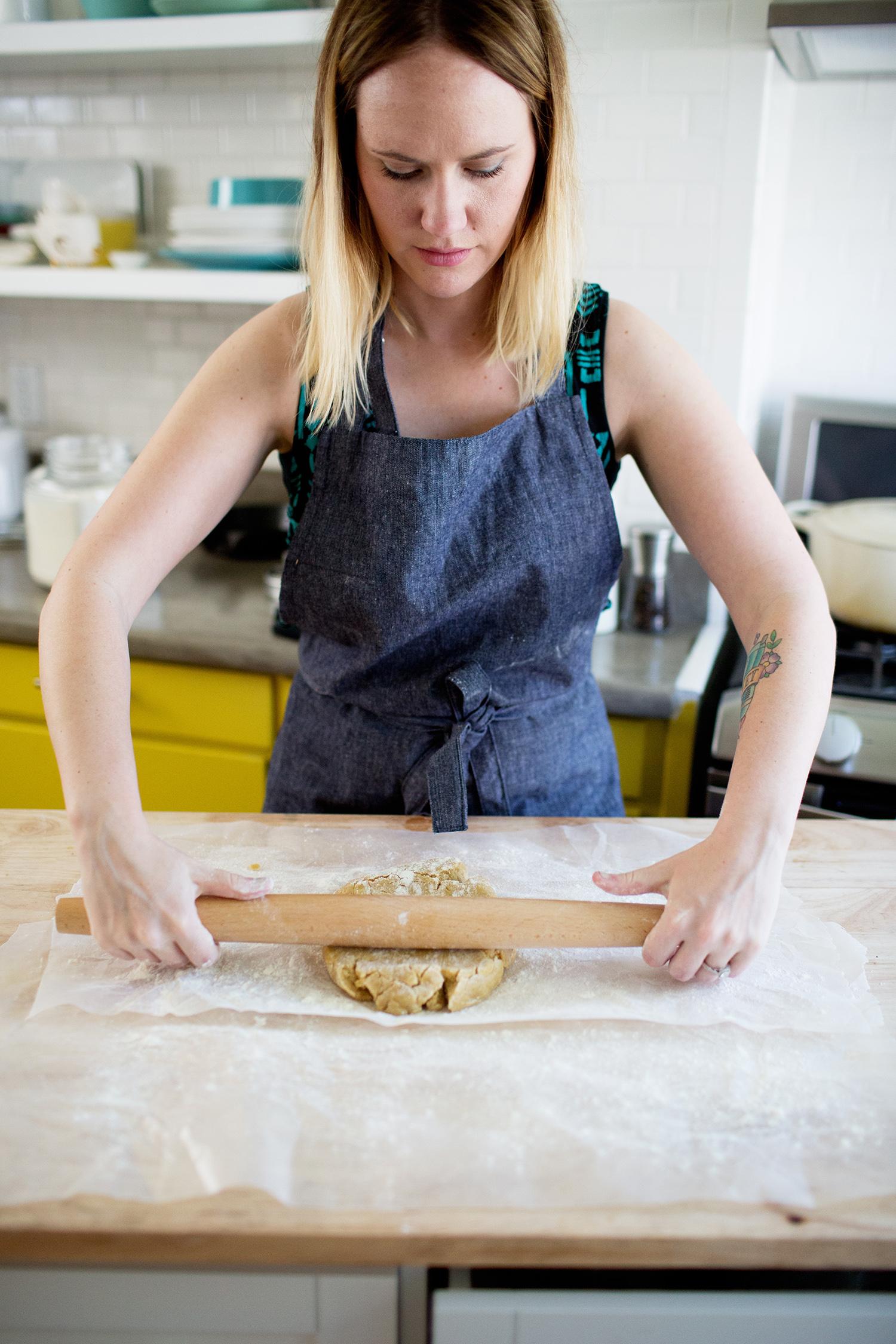 Emma baking honeycomb cookies