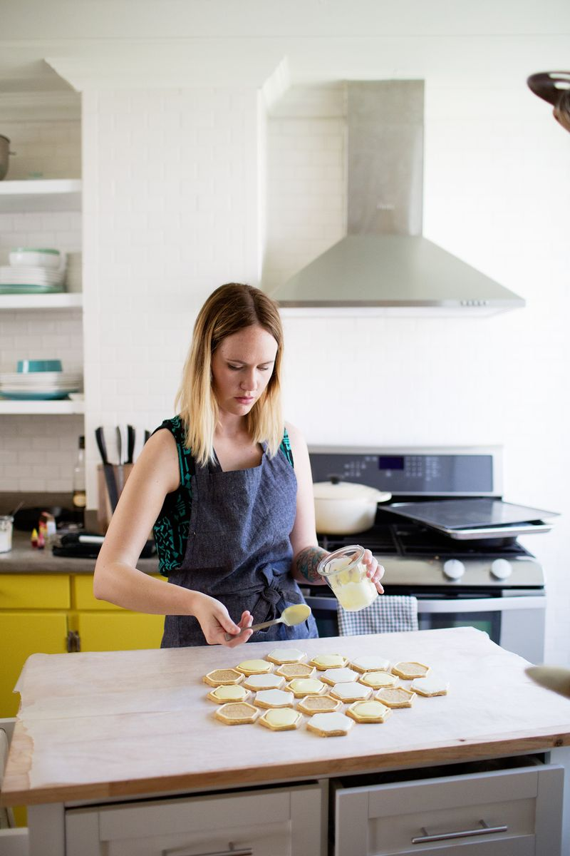 Emma Chapman in the kitchen