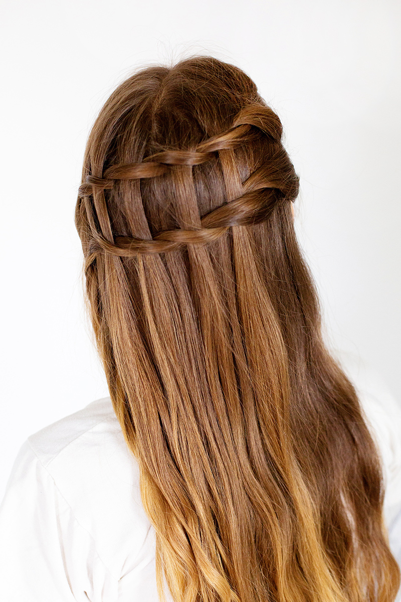 How to style a double waterfall twist a beautiful mess double waterfall twist click through for full tutorial ccuart Image collections