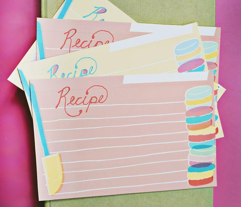 Macaron bonus recipe cards